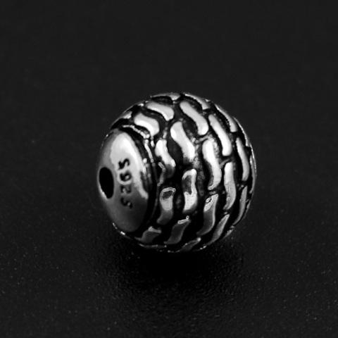 Бусина Волны 9,8 мм серебро 925