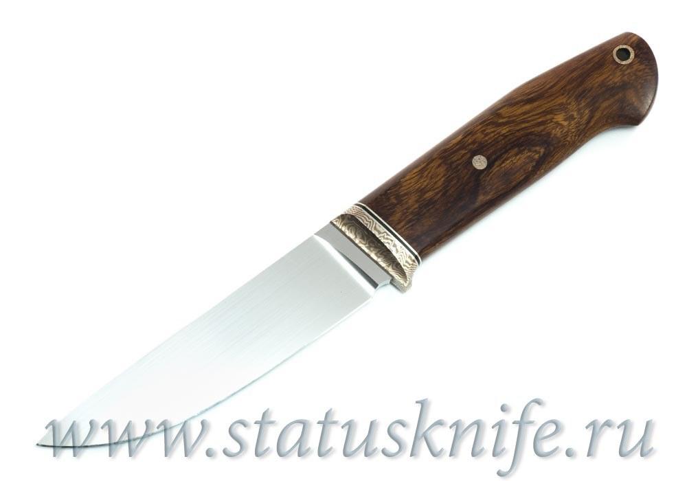 Нож авторский S125VN Мокуме мельхиор ironwood