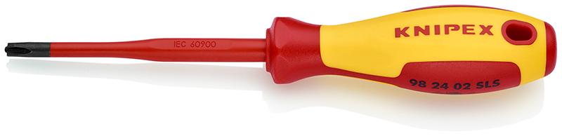 Тонкая отвертка для винтов с шлицем PlusMinus PH KNIPEX 98 24 02 SLS KN-982402SLS