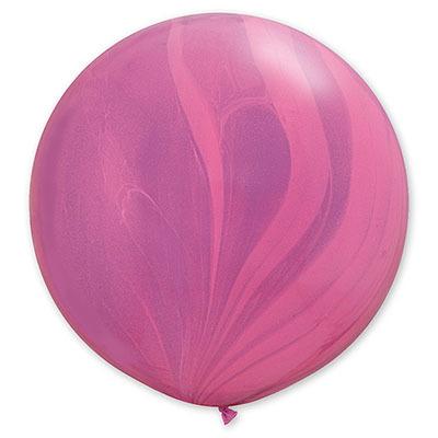 Мраморный воздушный шар 70 см. фиолетовый (2 фото)