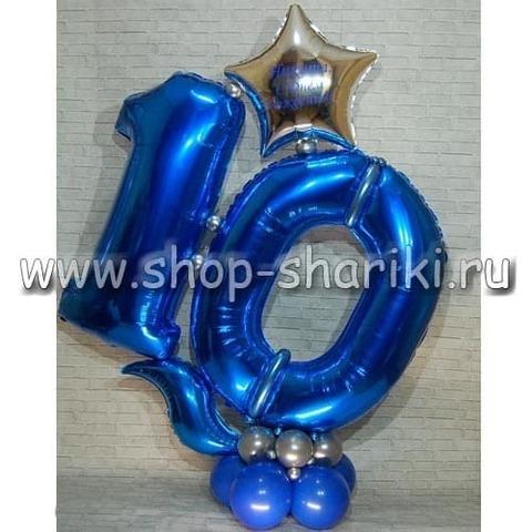 Композиция из шаров на 10 лет