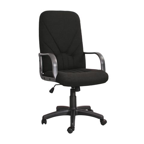 Кресло Менеджер (Manager) на роликах раздельный каркас с пластиковыми подлокотниками и крестовиной, обивка ткань черная, арт.400099-01/C11*, производитель БЕЛС (РБ)