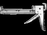 STAYER PROFESSIONAL. Пистолет для герметика, полукорпусной, хромированный, зубчатый шток, 310мл