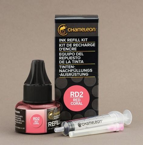 Чернила для маркеров Chameleon красный коралл RD2, 25 мл