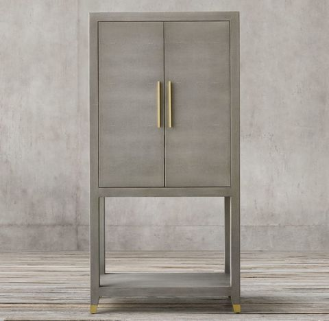 Graydon Shagreen Bar Cabinet