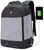 Рюкзак антивор SWISSWIN 7008 USB Серый