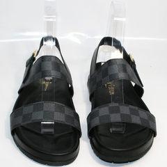 Мужские сандали Louis Vuitton 1008 01Blak.