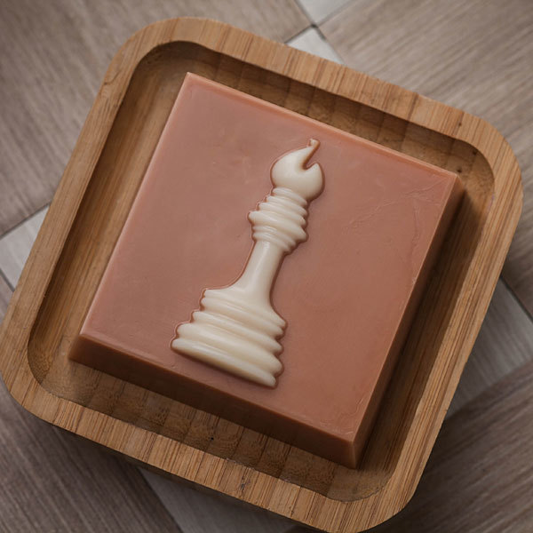Мыло Шахматная фигура. Пластиковая форма