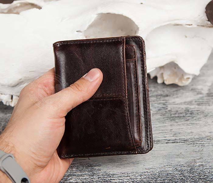 WL297-2 Классическое мужское портмоне со съемным кардхолдером фото 09