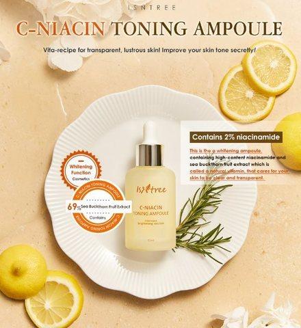 Эссенция с витамином С и ниацинамидом, 50 мл / Isntree C-Niacin Toning Ampoule
