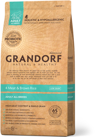 Grandorf All Breeds 4 Meat&Rice with Probiotcs