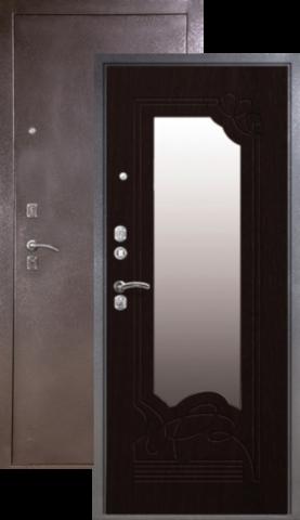Дверь входная Сибирь S-4, 2 замка, 1,5 мм  металл, (серебро+венге)