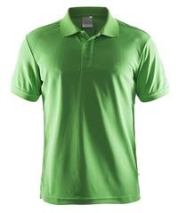 Мужская футболка поло Craft Pique 192466-1606 зеленая