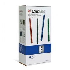 Пружины для переплета пластиковые GBC 22мм, белые 100шт/уп.