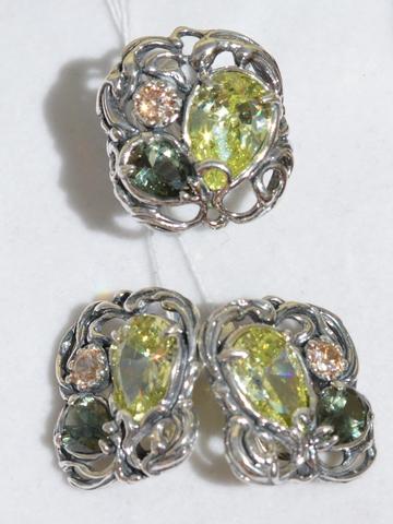 3137 (кольцо + серьги из серебра)