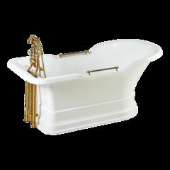 Ванна Migliore Impero Podium 25811 180x87хH76 см. белая, подиум белый бронза