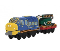 Chuggington Die-Cast Паровозик Брюстер с прицепом (LC54125)