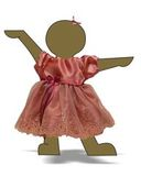 Платье из тафты - Демонстрационный образец (для пупса 38-43 см). Одежда для кукол, пупсов и мягких игрушек.