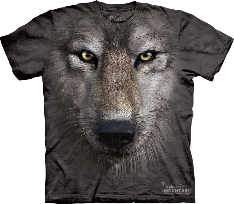 Футболка Mountain с изображением волка - Wolf Face