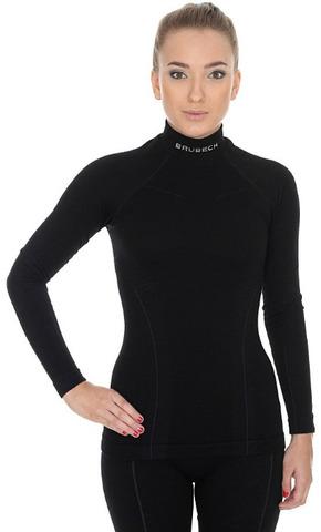 Термобелье Brubeck Wool Merino терморубашка женская черная