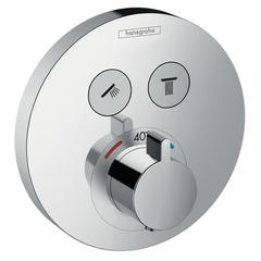 Смеситель встроенный термостат с 2 запорными клапанами Hansgrohe ShowerSelect S 15743000