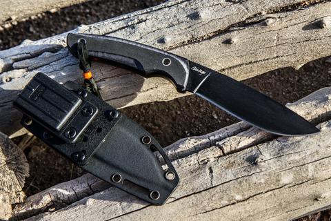 Тактический нож Savage AUS-8 Black Titanium