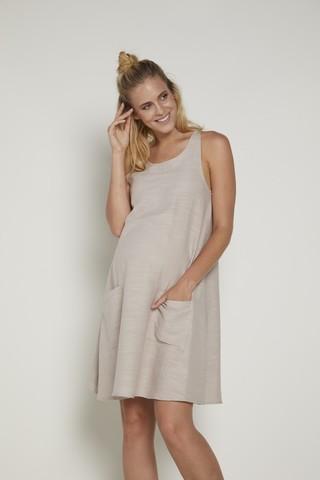 Платье 09376 бежевый