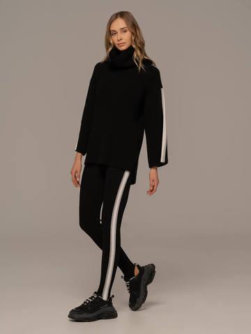 Женский джемпер черного цвета из шерсти и кашемира - фото 5