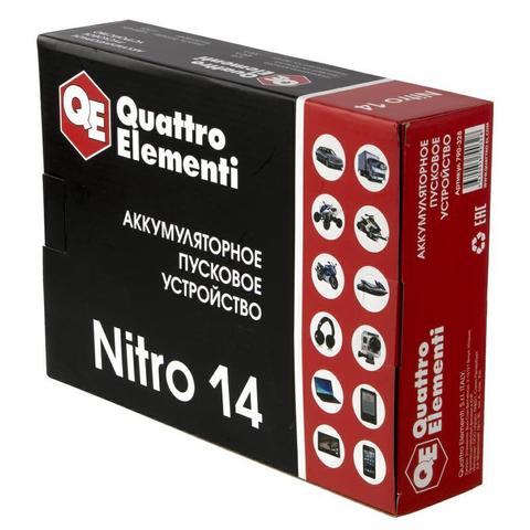 Пусковое устройство QUATTRO ELEMENTI Nitro 14  (12В, 14000 мАч, 450 А,  USB, LCD -  фонарь)
