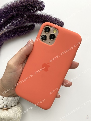 iPhone 11 Silicone Case (orange) /clementine/ спелый клементин original quality