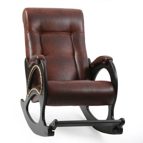 Кресло-качалка Комфорт Модель 44 венге/Antik Crocodile, 013.044