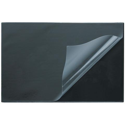 Коврик на стол Attache 38 х 59 см, черный с прозрач.листом