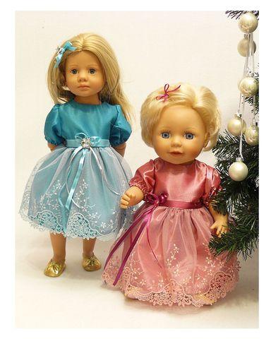 Платье из тафты - На куклах. Одежда для кукол, пупсов и мягких игрушек.