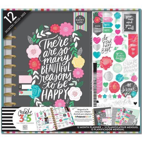 Набор для заполнения ежедневника  + планер Create 365 Planner Box Kit- 23 х 28 см. - Flower Pop