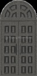 «Дверь 108 углов» металлик черный/металлик черный, Входная дверь