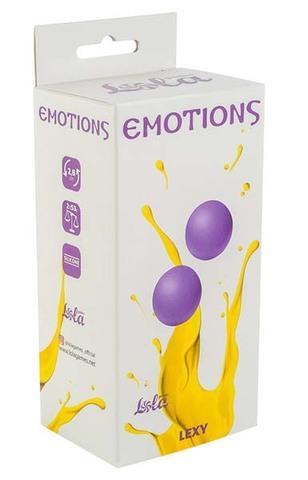 Тяжелые вагинальные шарики без сцепки Emotions Lexy Medium purple (2,8 см; 106 гр)