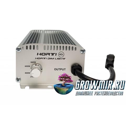 ЭПРА Horti Dim Light 600w безшумная с регулятором, провода в комплекте