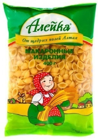 """Макаронные изделия """"Алейка"""" ракушки 400г"""