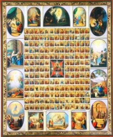 Икона Божией Матери Неопалимая Купина с иконограф