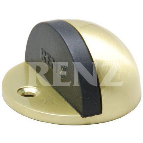 Фурнитура - Ограничитель Дверной напольный Renz DS 44 , цвет латунь матовая