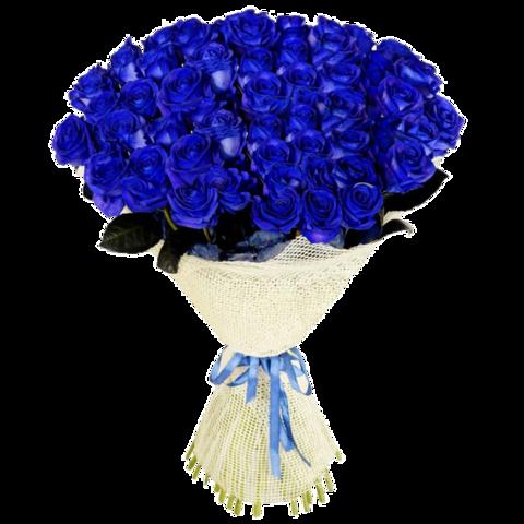 Букет из 51 синих роз