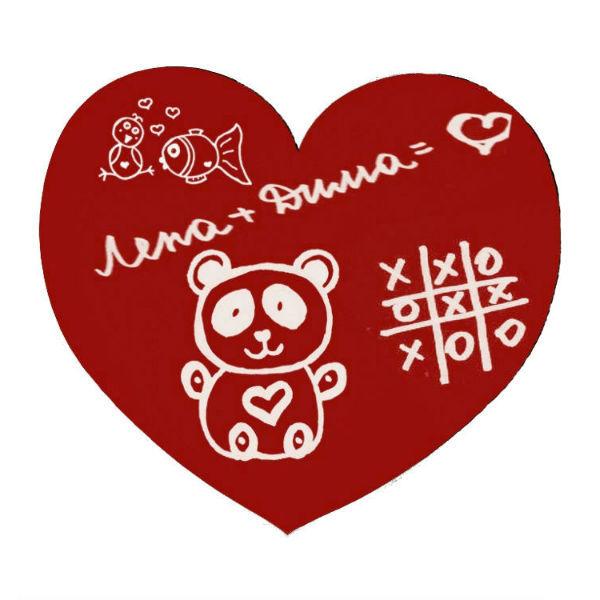 """Оригинальные подарки Грифельная магнитная доска на холодильник """"Сердце"""" cffe5a8d795b14b1d84bf6de1e1aa6f0.jpg"""