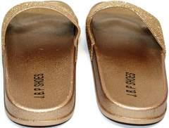 Шлепанцы женские недорого J.B.P. Shoes NU25 Gold.