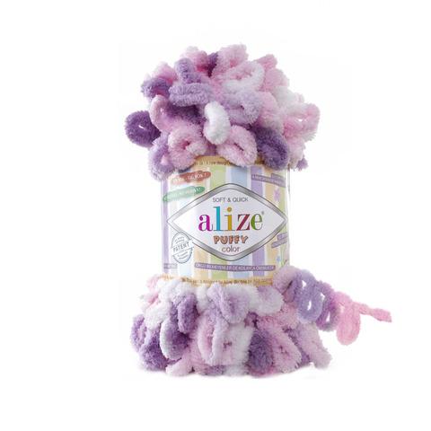 Купить Пряжа Alize Puffy Color Код цвета 6077 | Интернет-магазин пряжи «Пряха»