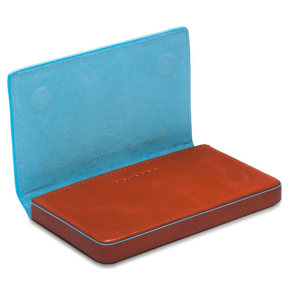 Чехол для кредитных/визитных карт Piquadro Blue Square, цвет оранжевый, 10x6x1,5 см (PP1263B2/AR)
