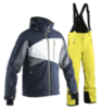 Мужской горнолыжный костюм 8848 Altitude 711015-711113 темно-синий желтый
