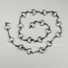 """Цепь """"Сердечки"""" (цвет - античное серебро) звено 10х4,4 мм,  50 см"""