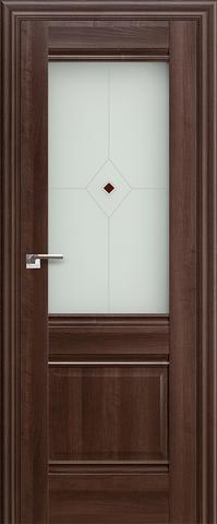 Дверь Profil Doors №2Х, стекло узор, цвет орех сиена, остекленная