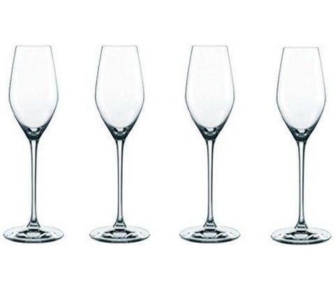 SUPREME - Набор фужеров, 4 шт, для шампанского, 300 мл, хрусталь