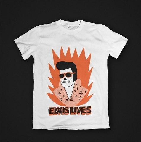 Футболка Elvis Lives - S